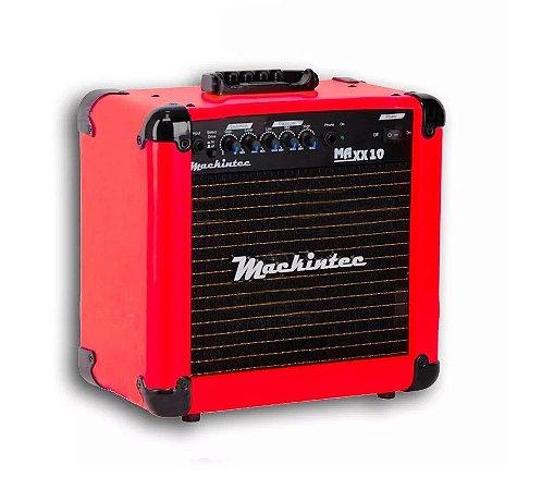 Cubo Amplificador De Guitarra Maxx10 Mackintec Vermelho
