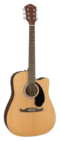 Violão Fender Eletroacústico Dreadnought Fa125ce Natural