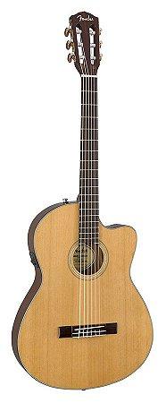 Violão Fender Thinline Cn140sce Nylon Com Case Luxo