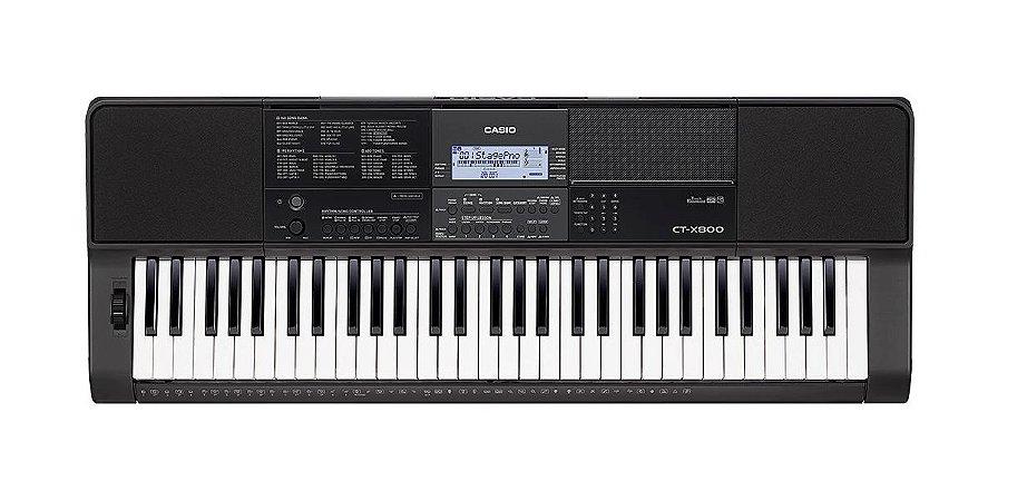 Teclado Casio Ctx800 61 teclas com resposta ao toque, 48 polifonias