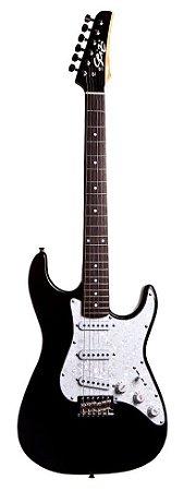 Guitarra Seizi Vision RW Black com Escudo Branco Perolado