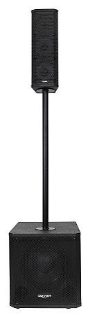 Caixa Ativa Line 300 Watts Rms Bluetooth Usb Dj Sub Vert1200
