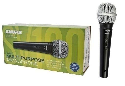 Microfone Shure Sv100 - com cabo