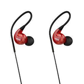 Fone de Ouvido Vokal E20 In Ear Com Microfone embutido Vermelho