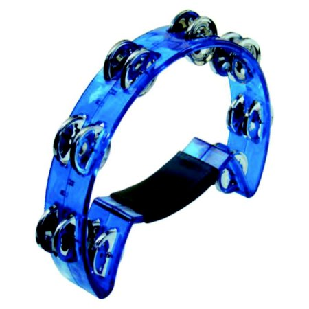 Pandeiro Meia Lua Torelli Cristal TP316 Azul