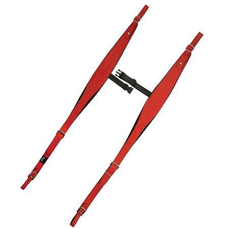 Correia de Acordeon Gaita ou Sanfona Basso Produzido em Sintético PVC Vermelho