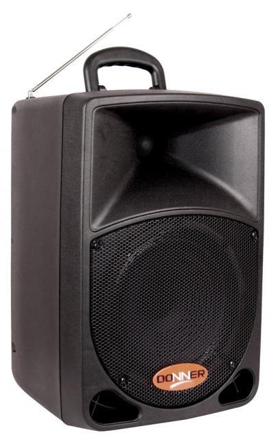 Caixa Acústica Ativa Com compartimento para Bateria Interna DR08BAT - Acompanha Microfone
