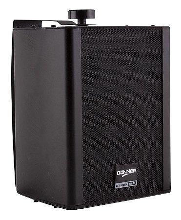 Caixa de Som Ambiente Par Donner KW40 Preta 60W RMS