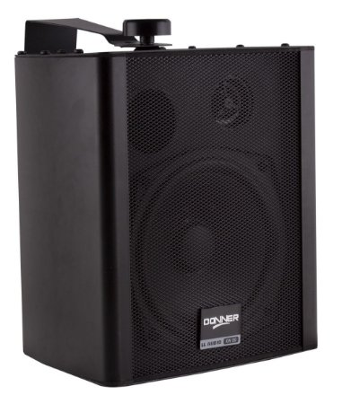 Caixa de Som Ambiente Par Donner KW50 Preta 80W RMS