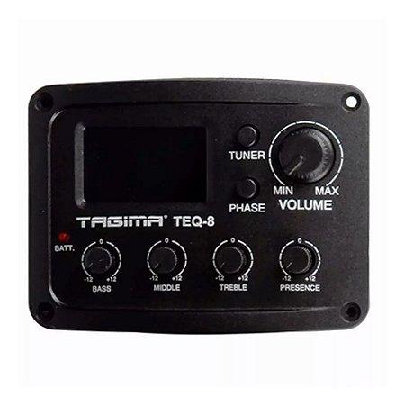 Pré Amplificador Tagima TEQ8 Afinador Cromático Violão/Viola