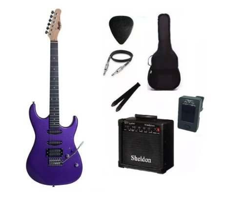 Kit Guitarra Memphis By Tagima MG260 Metallic Purple Com Amplificador