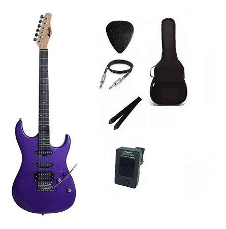 Kit Guitarra Memphis By Tagima MG260 Purple