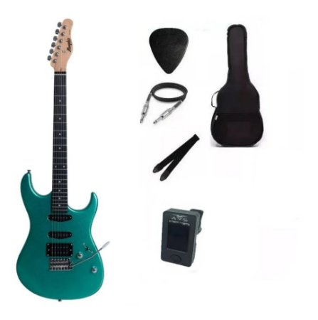 Kit Guitarra Memphis By Tagima MG260 SurfGreen