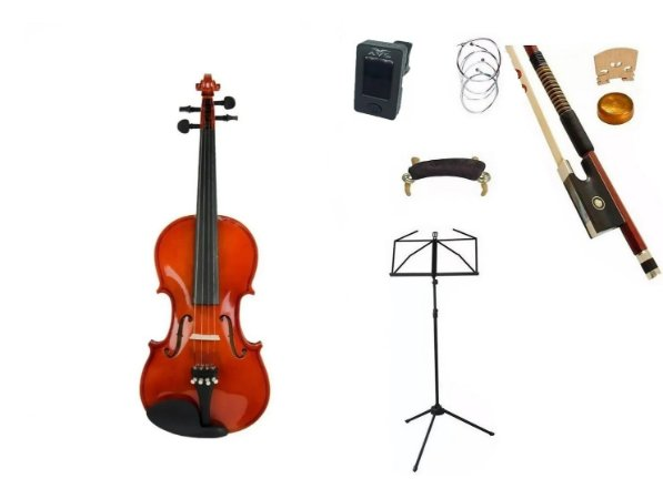 Kit Violino Vignoli 4/4 Vig144 Estojo Arco breu