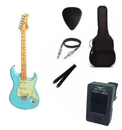 Kit Guitarra Tagima TG530 Strato Azul Pastel