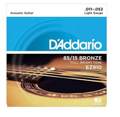 Encordoamento D'addario Violão Aço EZ910-B 011