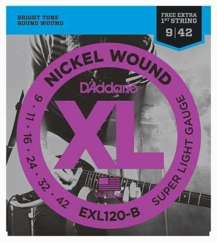 Encordoamento Guitarra D' Addario EXL 120 0.09
