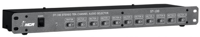 Seletor de áudio com 10 seletores estéreo - St100