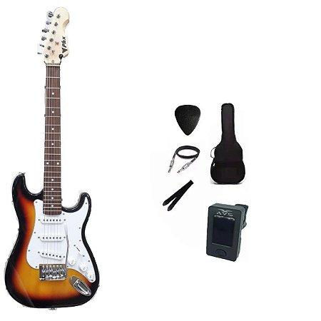Kit Guitarra PHX Stratocaster Juvenil IST1 3/4 Sunburst