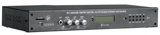 Receiver estéreo com tecnologia digital - RC200 USB