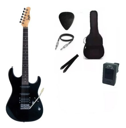 Kit Guitarra Memphis By Tagima MG260 Preta