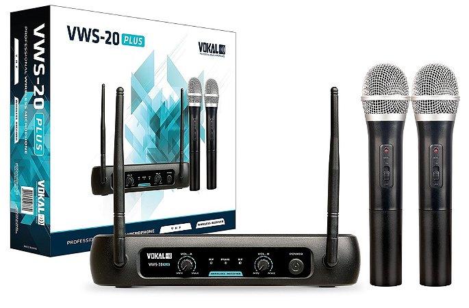 Microfone Sem fio VOKAL duplo VWS-20 plus