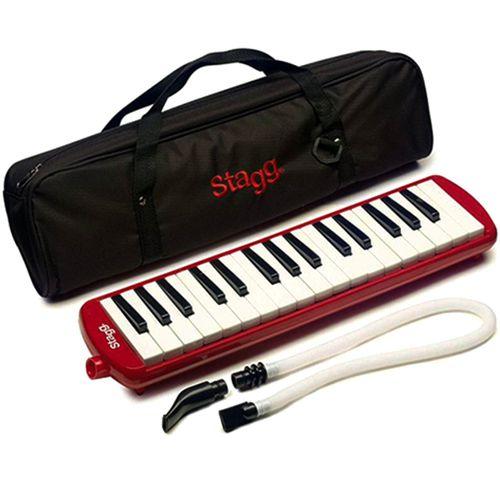 Escaleta Stagg 32 teclas com Bag VERMELHA