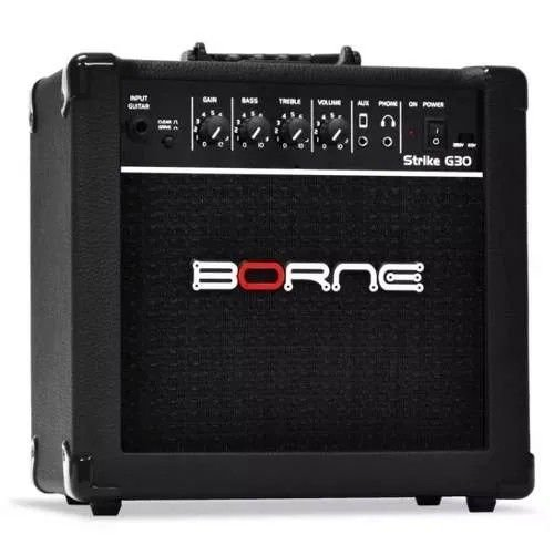 Amplificador Para Guitarra Borne G30 15w Rms preto