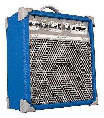 Caixa de Som Amplificada Multiuso UP!8 FM/USB/BLUETOOTH - Azul
