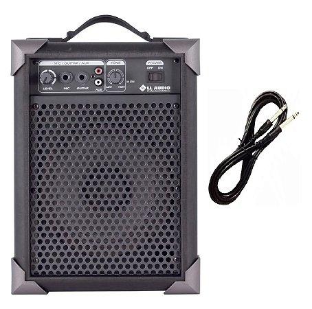 Caixa De Som Amplificada Microfone/guitarra Lx40 Com Cabo P10
