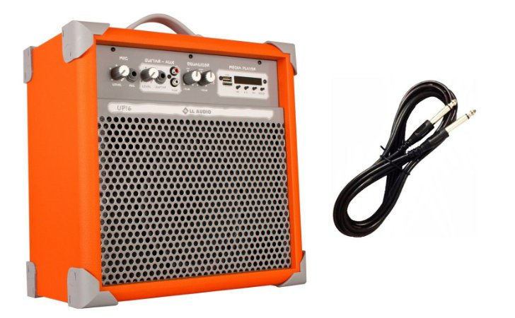Caixa de Som Amplificada Multiuso UP!6 BLUETOOTH - Orange CABO P10 BRINDE