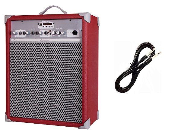 Caixa de Som Amplificada Multiuso UP!10 BLUETOOTH - Vermelha CABO P10 BRINDE