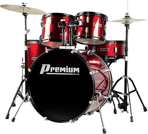 Bateria Acústica Premium DX722 Vermelha
