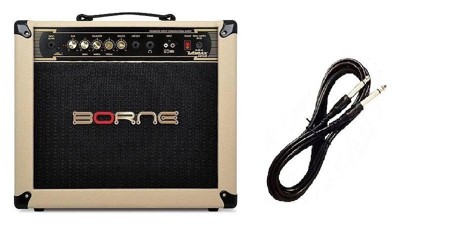 Amplificador Para Guitarra Borne Vorax1050 Palha Cabo P10 Brinde