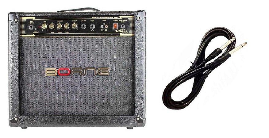 Amplificador Para Guitarra Borne Vorax1050 Preto Cabo P10 Brinde