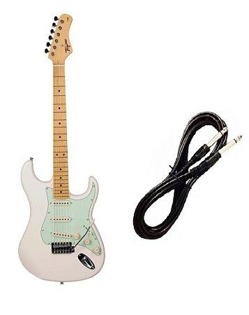 Guitarra Tagima TG530 Strato Branco Vintage Cabo P10 Brinde