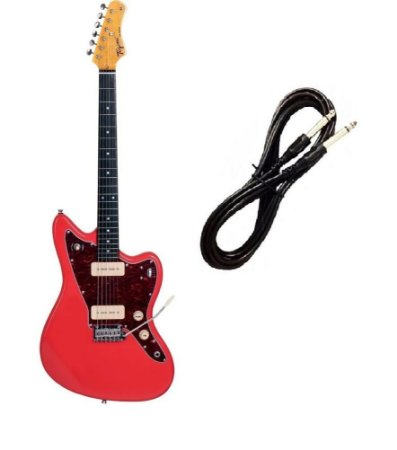 Guitarra Tagima Tw61 Woodstock Fiesta Red Cabo P10 Brinde