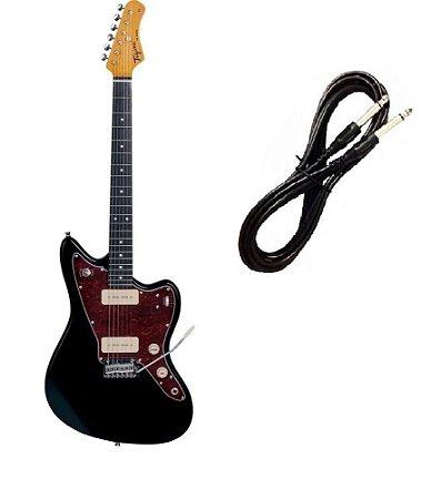 Guitarra Tagima Tw61 Woodstock Preta Cabo P10 Brinde