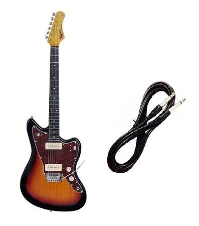 Guitarra Tagima Tw61 Woodstock Sunburst Cabo P10 Brinde