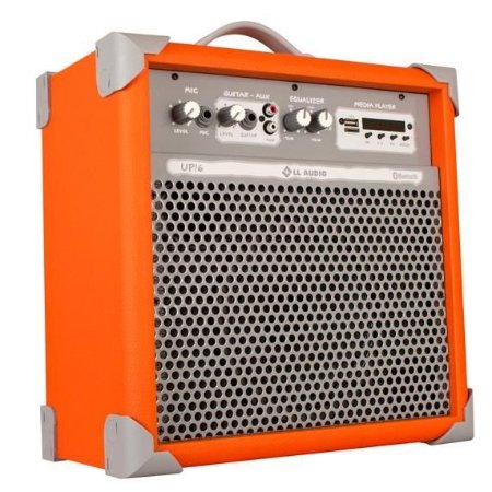 Caixa de Som Amplificada Multiuso UP!6 FM/USB/BLUETOOTH - Orange