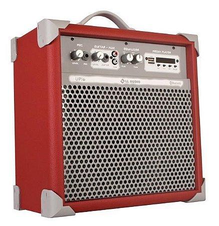 Caixa de Som Amplificada Multiuso UP!6 FM/USB/BLUETOOTH - Vermelha