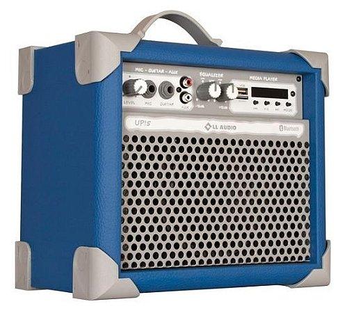 Caixa de Som Amplificada Multiuso UP!5 FM/USB/BLUETOOTH - Azul