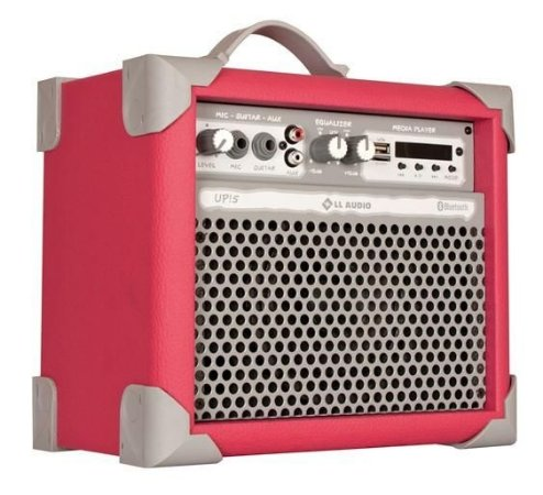 Caixa de Som Amplificada Multiuso UP!5 FM/USB/BLUETOOTH - Rosa