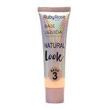 Base Líquida Natural Look Bege 3 - Ruby Rose