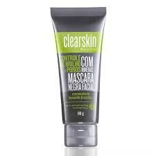 Mascara negra clearskin controle de brilho e poros