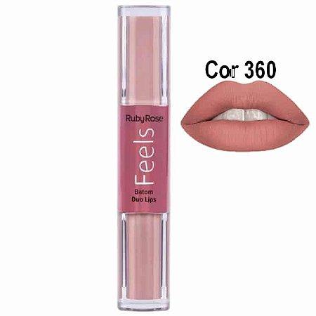 Batom Duo Lips Feels 360 - Ruby Rose