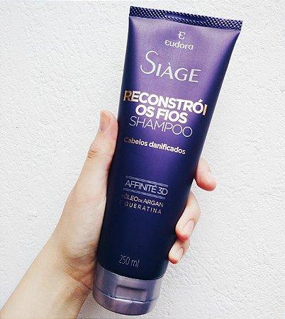 Shampoo para Cabelos Danificados Siàge Reconstrói os Fios 250ml