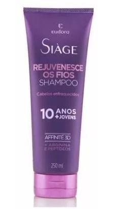 Siage Shampoo Rejuvenesce Os Fios Da Eudora 250ml