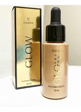 Eudora Glow Iluminador Gold Fix 30ml - Conta Gotas