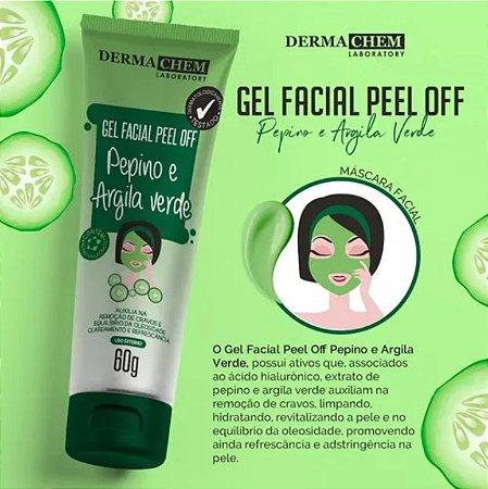 Gel Facial Peel Off Pepino e Argila Verde - Dermachem 60g